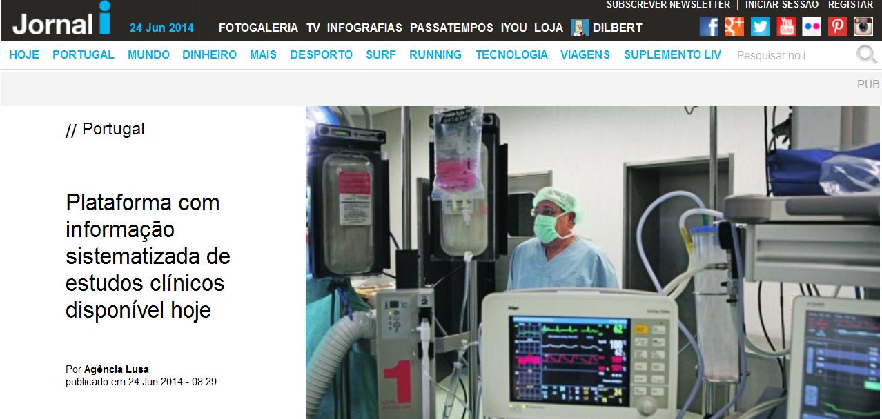 Portuguese media reports on launch of Portuguese Cochrane Branch